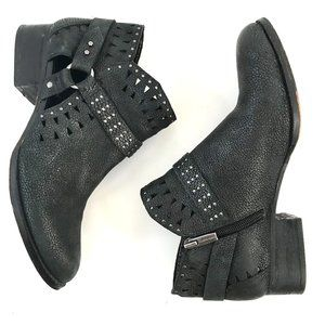 Vince Camuto Calley Pewter Leather Booties 9.5
